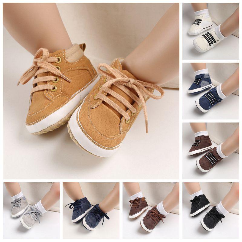 Классические кроссовки для мальчиков и девочек, хлопковая мягкая нескользящая подошва, для новорожденных, начинающих ходить, повседневная ...