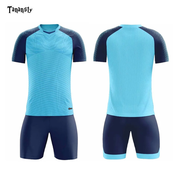 Football Set Customize Name and Number Men Adult Football Jersey Shorts Training Running Soccer Kit Football Uniforms 2019 New