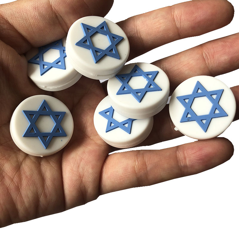 5pcs NEW Israel Flag Tennis Racket Damper Shock Absorber To Reduce Tenis Racquet Vibration Dampeners Raqueta