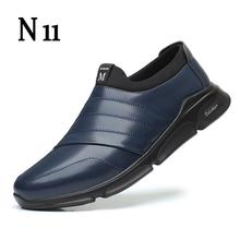 2020 New Fashion Loafers Men Shoes Leather Sneakers Summer