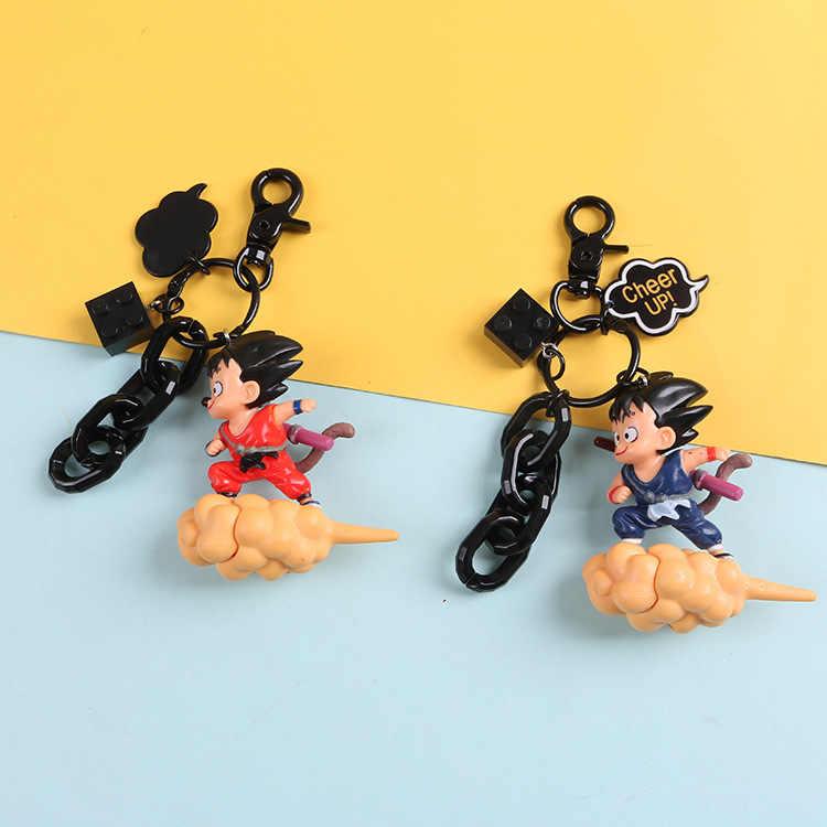 באיכות גבוהה קריקטורה קריקטורה יד שמש wukong מפתח שרשרת שבעה דרקון כדור creative רכב מפתח טבעת קטן מתנת חבילה תליון