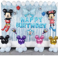 1 Set DISNEY Foil Balloons Mickey Mouse Minnie Theme Birthday Party Decorations Kids Toys Aniversario Ballons Baby Shower Globos