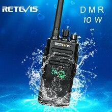 High Power DMR Radio Digital IP67 Waterproof Walkie Talkie Retevis RT50 Display UHF VOX Portable Two Way Radio  Walkie-Talkie 315mhz 350mhz 300 400mhz 50mw output 15w rf power amplifier walkie talkie pa
