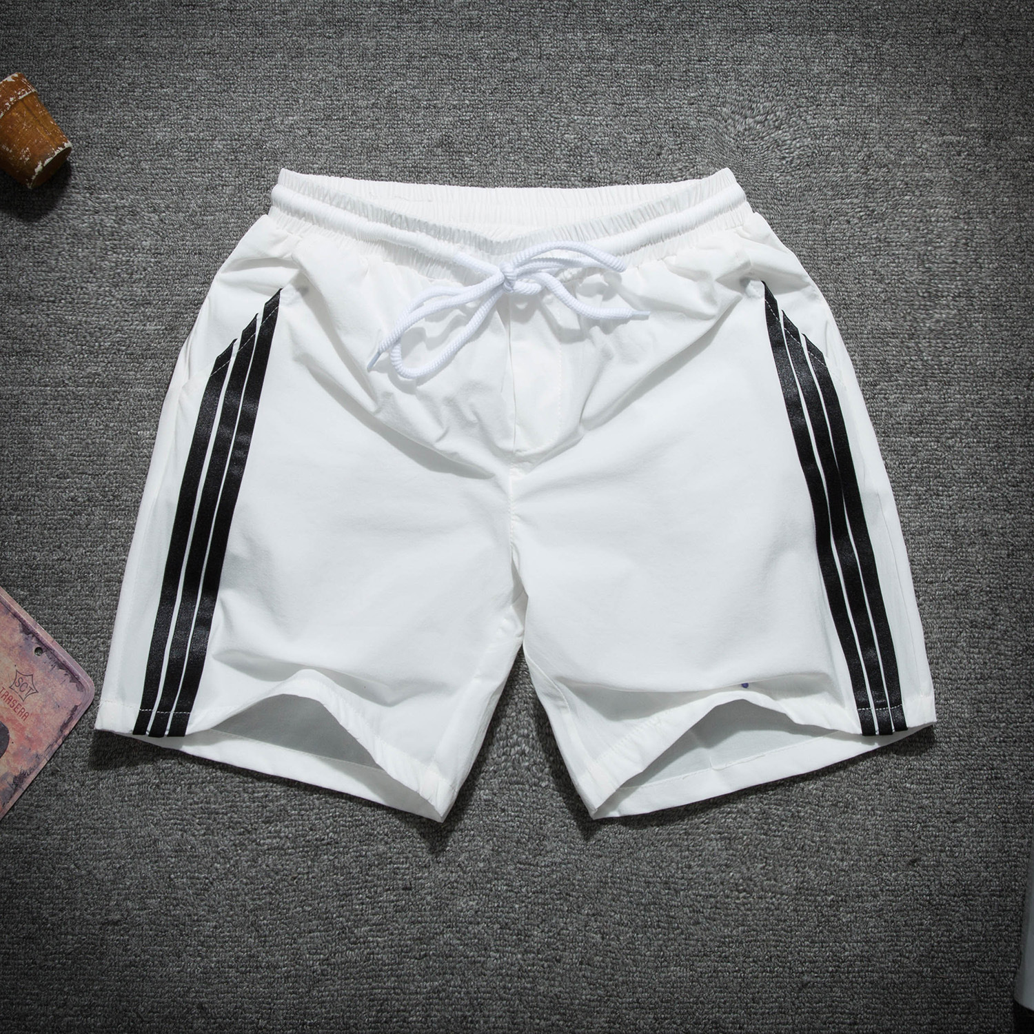 031 New Products Shorts Summer Loose-Fit Casual MEN'S Beach Pants Lively Like Reds Celebrity Style Shorts