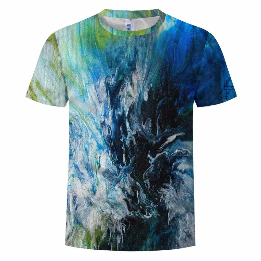 2020 mavi alev tshirt erkek kadın t shirt 3d t-shirt siyah Tee rahat üst Anime Camiseta streetwear kısa kollu gömlek