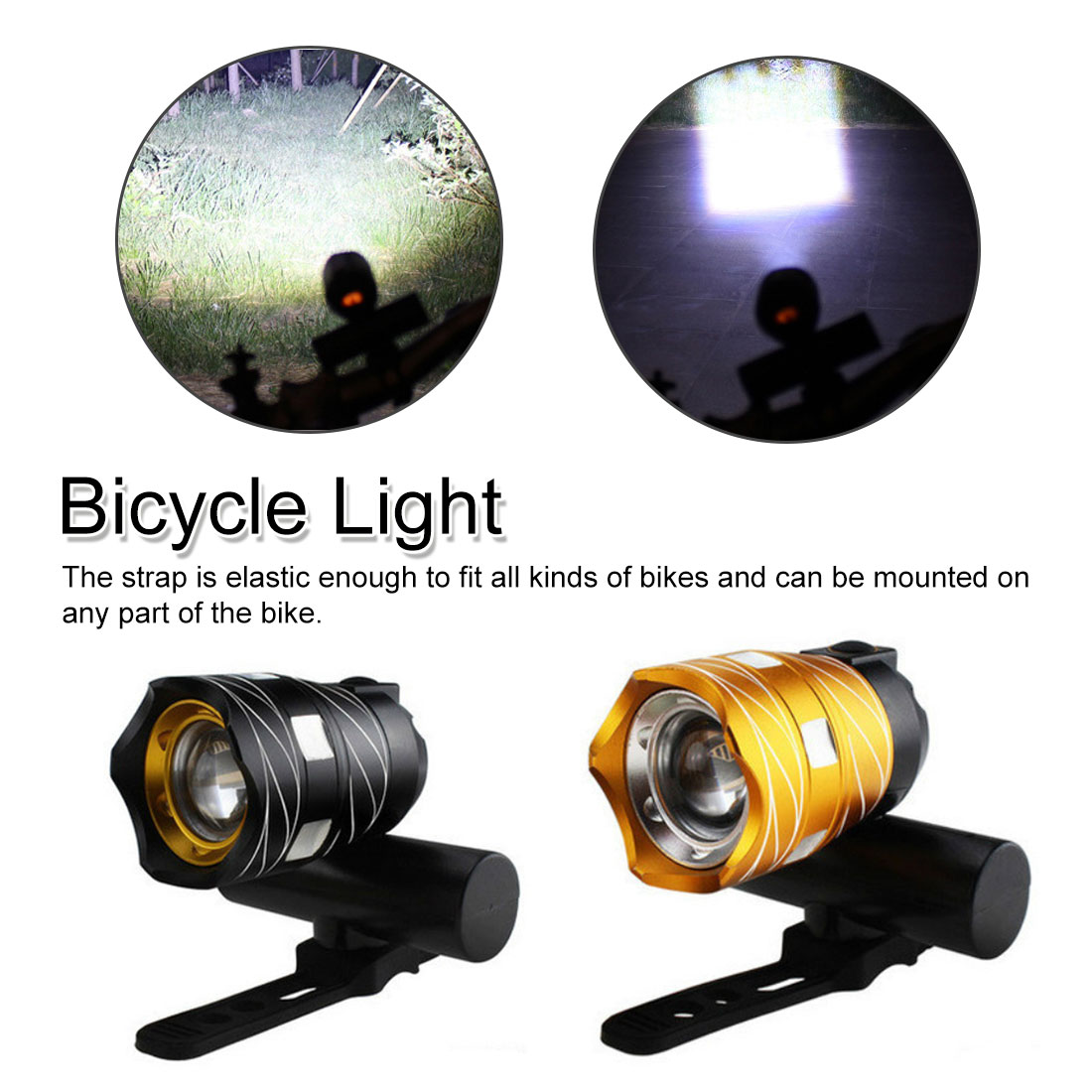 15000LM LED Free Zoom Waterproof <font><b>Bicycle</b></font> <font><b>Light</b></font> <font><b>Bike</b></font> Front <font><b>Lamp</b></font> <font><b>Torch</b></font> <font><b>Headlight</b></font> with USB Rechargeable <font><b>Cycling</b></font> <font><b>light</b></font> image