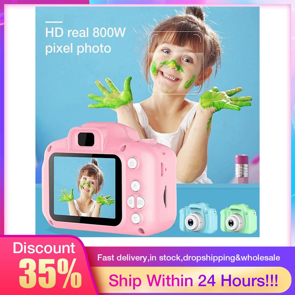 Children Mini Cute Video Camera 2.0 Inch Take Picture Camera 1080P HD Boys Girls Best Birthday Gifts Kids Digital Camera CMOS