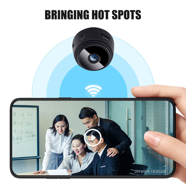 Wireless IP Camera Work On 2.4GHz WiFi Night Vision Alarm Push Built-in Magnet Easily Place Anywhere 1080P Home Security Camera 5