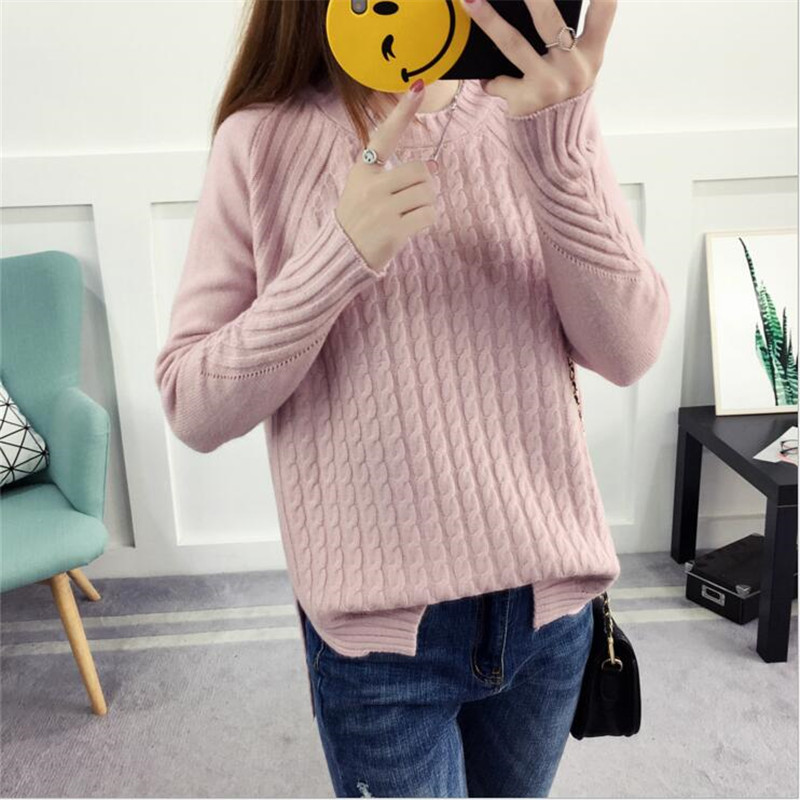2019 Women Pullover Fashion Autumn Winter Warm O-Neck Casual Loose Sweater Knitted Tops