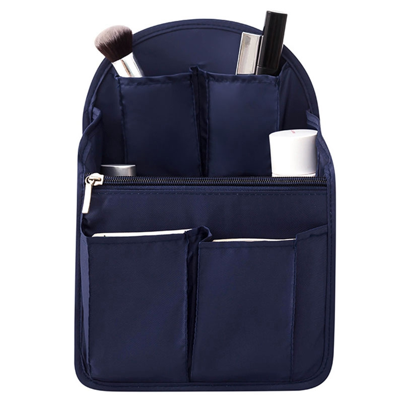 Backpack Insert Bag Internal Storage Bag Diaper Bag Large Capacity Travel Storage Bag Shoulder Bag Navy Blue