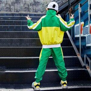 Image 5 - Groene Jazz Dans Kostuums Kinderen Hiphop Street Dance Praktijk Slijtage Kind Stage Performance Rave Outfit Casual Kleding DF1631