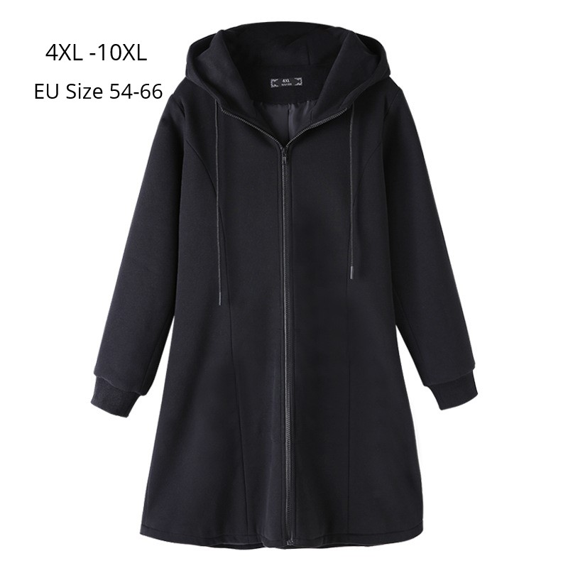 Plus Size 10XL 8XL 6XL 4XL Women Autumn Winter Long Sleeve Hoodies Sweatshirts Femme Slim Black Oversized Hoodie  Sudadera Mujer