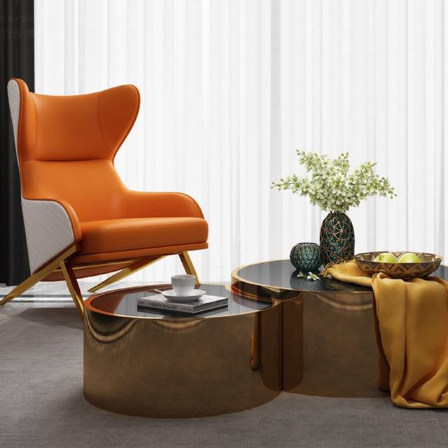 Leather Art Designer High Back Lounge Chair 4