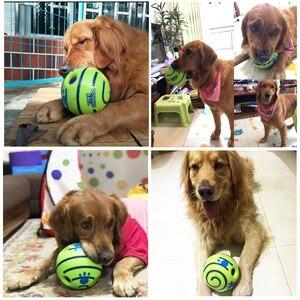 Image 4 - Grappig Geluid Honden Spelen Bal Wobble Wag Giggle Kauwen Bal Puppy Training Bal Met Grappige Geluid Gift Huisdier Speelgoed levert