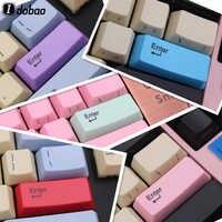 Idobao pbt oem keycaps cinzelando a laser impressão frontal spacebar teclado de jogos mecânico configuração personalizada teclado gamer