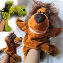 Animal Hand Puppet Cute Cartoon Elephant Plush Toys Doll Parent-Child Game Kindergarten Story-telling Props Finger Baby Toy