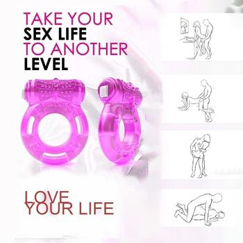 Wibracyjny stymulator łechtaczki silniejszy Penis wyprostowany Cock ring klatka erekcja zwiększenie zdolności seksualnych produkt zabawki erotyczne dla mężczyzn para tanie i dobre opinie HIMALL CN (pochodzenie) Silikon sex toys vibrators adult toys dildos