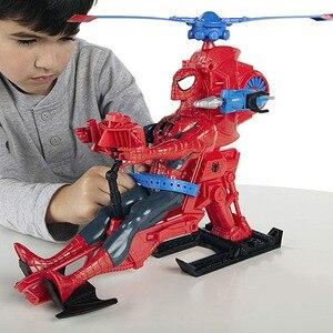 Image 5 - Marvel Legends 30cm Spiderman zestaw zabawek Titan Hero Series Copter figurka 11.8 cali prezenty na nowy rok zabawki dla chłopców