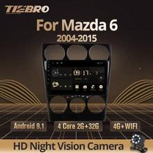 TIEBRO 2din Android 9,0 автомобильный мультимедийный Dvd радио плеер для Mazda 6 2004-2014 Автомобильный Dvd Gps навигация Авто Радио стерео плеер