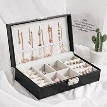Шкатулка для ювелирных изделий, свадебный подарок, шкатулка, деревянная Конструкция, покрытая высококачественной кожей, высококачественный однотонный модный