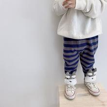 Tonytaobaby jesienne i zimowe nowe chłopięce i dziewczęce grube paski trójwymiarowe zwierzęce spodnie z dzianiny tanie tanio MILAMILAKIDS COTTON CN (pochodzenie) Unisex Pełnej długości Pasuje prawda na wymiar weź swój normalny rozmiar Elastyczny pas