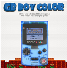 "5Pcs GB Boy Colorful Color Handheld Game Player 2.7"" Portable Classic Game Console  With Backlit 66 Built-in Games Video game"