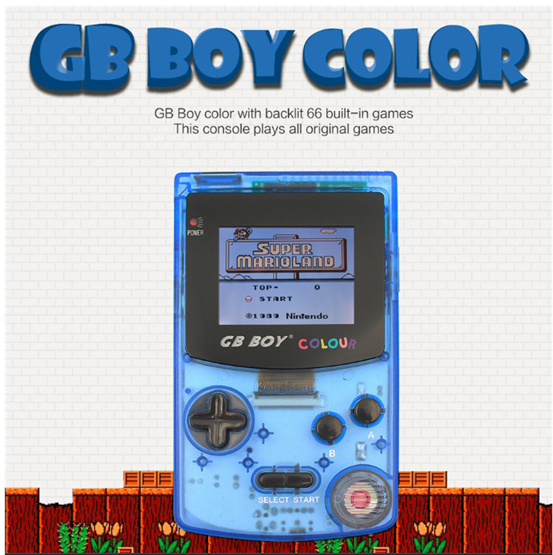 """GB Boy Colorful Color Handheld Game Player 2.7"""" Portable Classic Game Console Consoles With Backlit 66 Built-in Games Video game"""