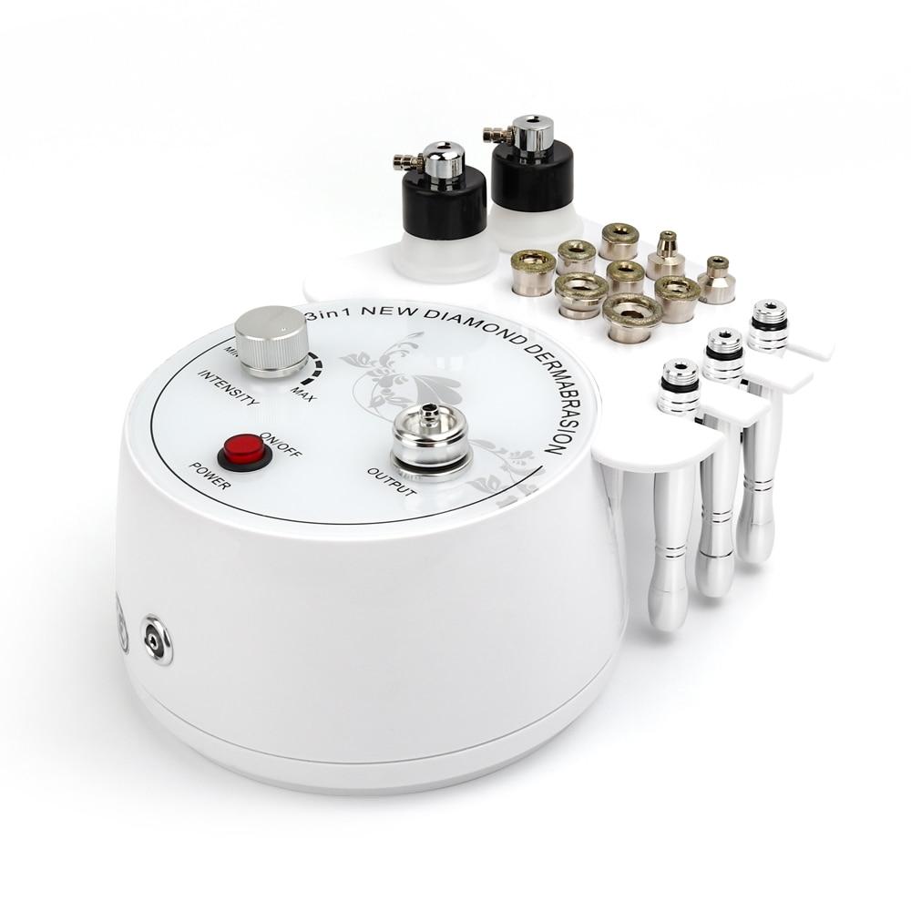 3 in1 Máquina de Casca de Microdermoabrasão Diamante Máquina Dermoabrasão Remoção Do Enrugamento Facial Esfoliação Peeling Spray de Água Para SPA
