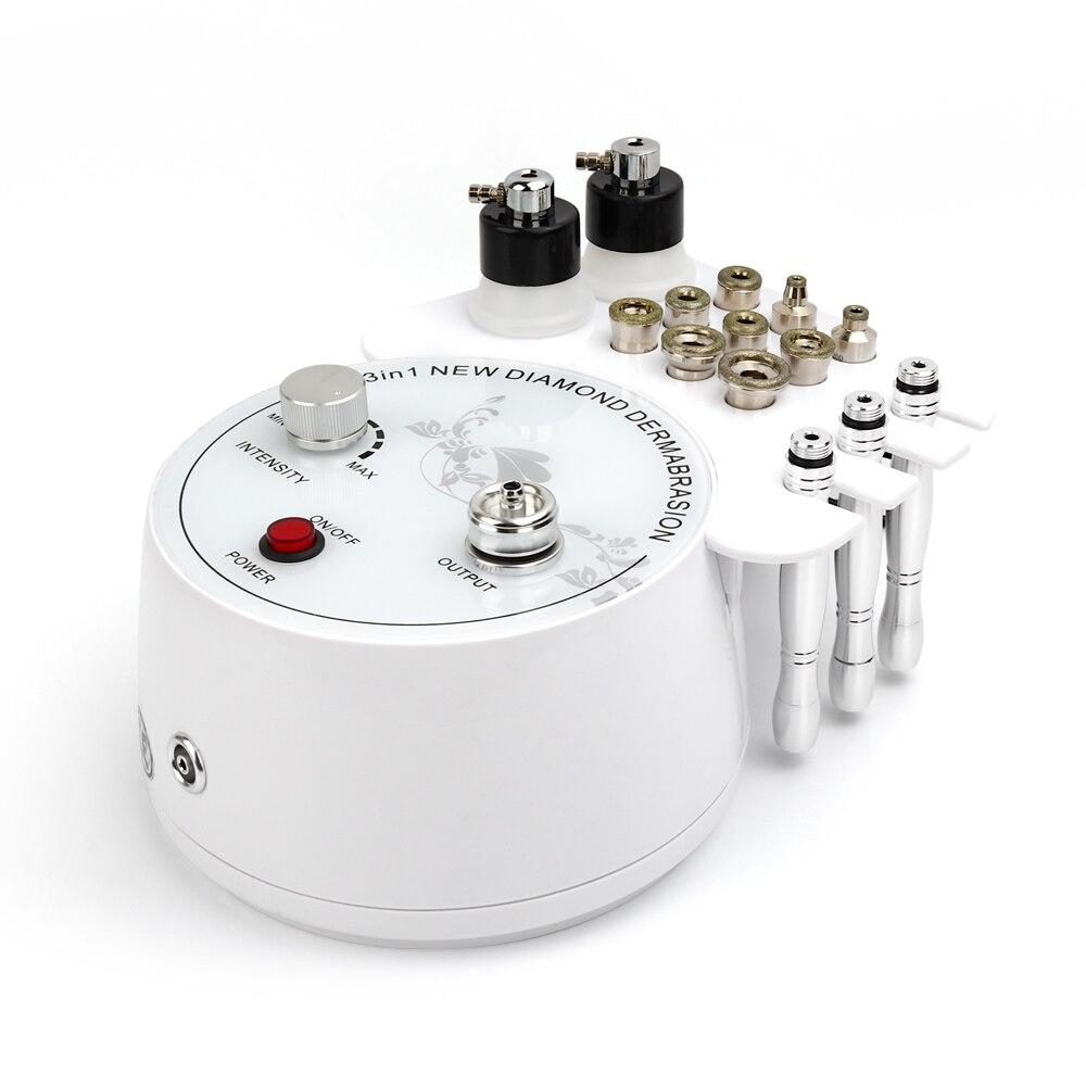 3 in1 diamante microdermabrasion peeling facial do enrugamento da remoção da máquina da remoção dermabrasion da máquina da esfoliação do pulverizador de água para termas