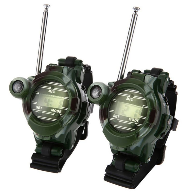 Children Education Toys 2PCS Toy Walkie Talkies Watches Walkie Talkie 7 In 1 Children Watch Radio Outdoor Interphone Toy Outdoor