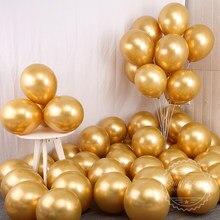 30 Uds. De Globos de látex metalizados cromados gruesos, 50 Uds., globo inflable de helio, globo de decoración para fiesta de cumpleaños y boda
