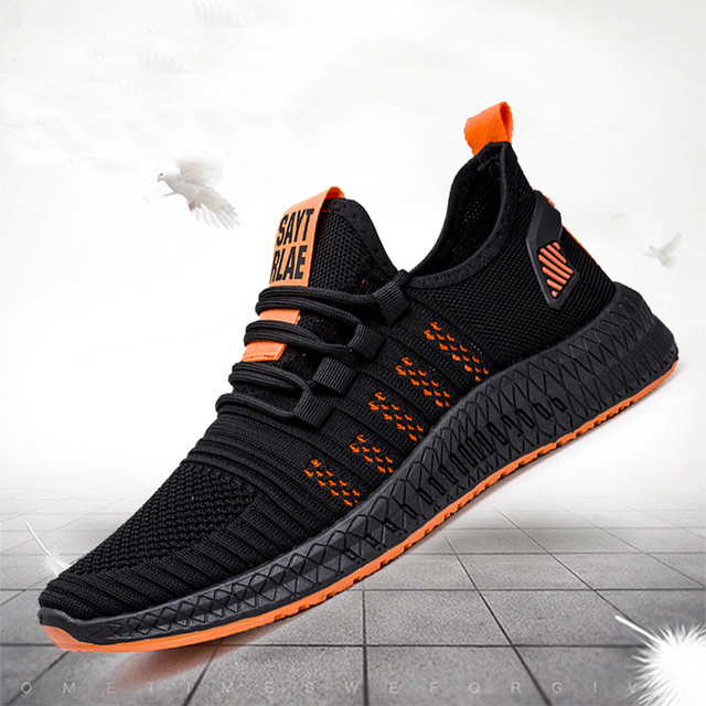 2019 New Mesh Men Sneakers Casual Shoes Lac-up Men Shoes Lightweight Comfortable Breathable Walking Sneakers Zapatillas Hombre