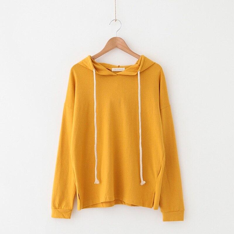 2019 New Solid Color Autumn And Winter Ladies Sweatshirt Casual Hooded Sweatshirt