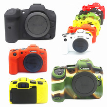 Armadura de silicone caso da pele câmera capa do corpo protetor para canon eos r6 r5 rp r câmeras digitais