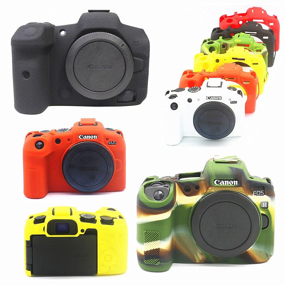 Силиконовая кожа брони чехол Камера средства ухода за кожей Обложка протектор для цифровой однообъективной зеркальной камеры Canon EOS R6 R5 тит...
