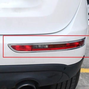 Chrome traseiro foglight capa da lâmpada de nevoeiro guarnição para audi q3 2012 2013 2014 decorativo abs estilo do carro tuning acessórios