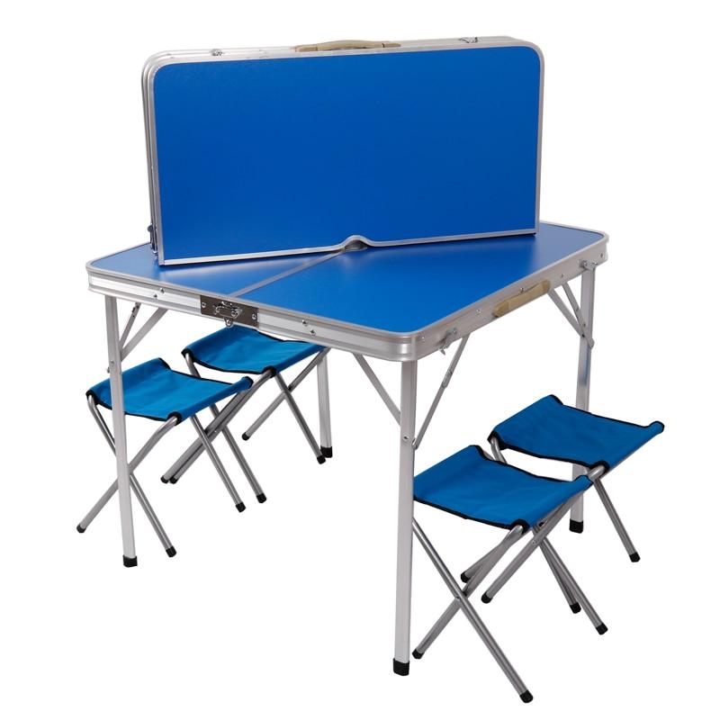 Chairs Tables Folding Mesa-Plegable Aluminum-Alloy Camping Barbecue-Propaganda Car-Mounted