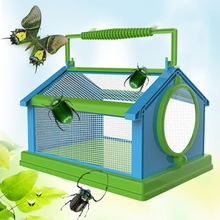 Insect Butterfly Habitat Cage Terrarium Folding Portable Outdoor Insect Breeding Viewer Breathable Comfortable Pet Garden