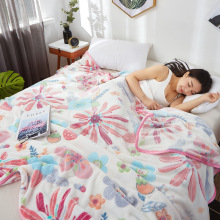New Soft Blanket Flower Fleece Flannel Adult Sofa Bedding Throw winter Blankets for Beds Home Textile