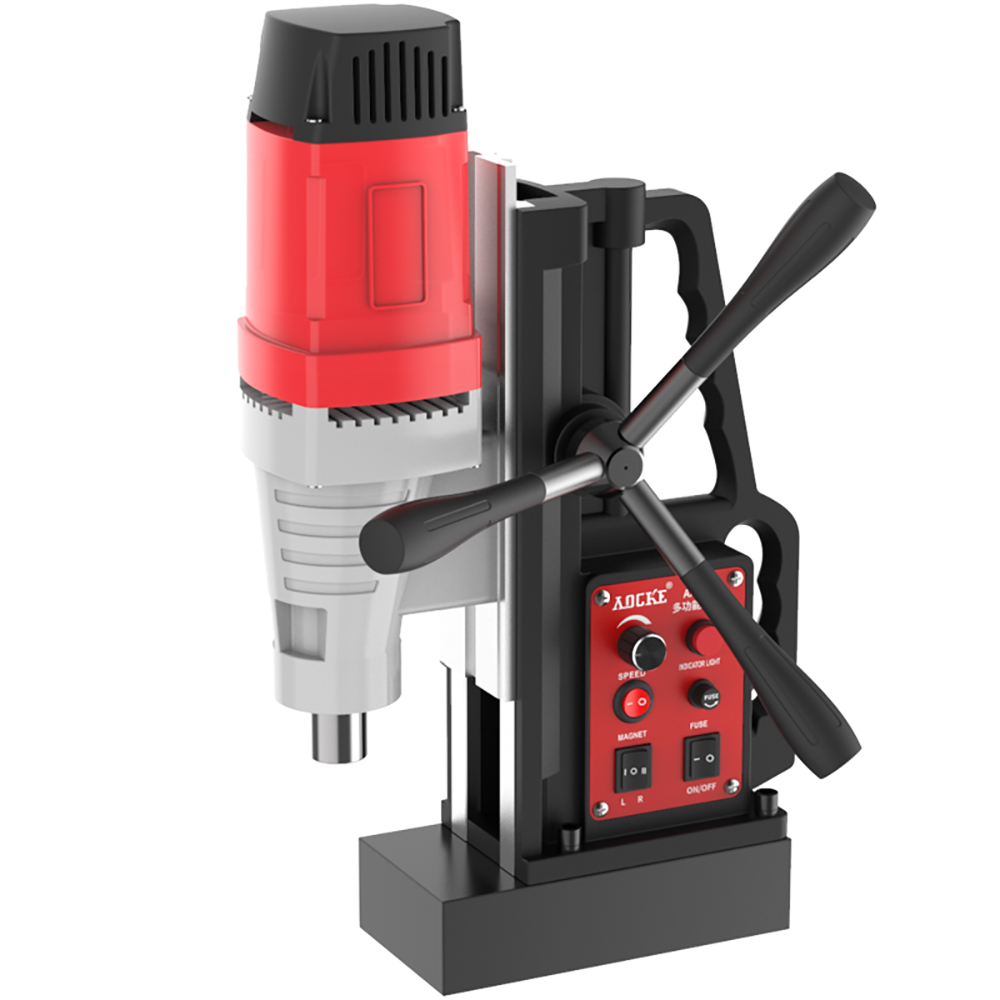 220V Reversible Magnetic Drill Bench Drilling Tapping Machine Speed-controlled Adsorption Magnetic Base Hollow Drill Y