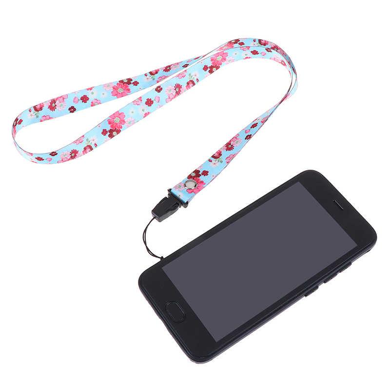 Bunga Lanyard Tali Leher untuk Kunci ID Kartu Ponsel Tali untuk Huawei iPhone USB Lencana Pemegang Diy Tali Gantung lanyard