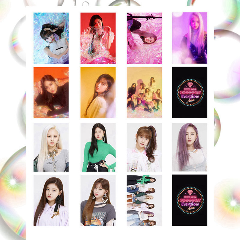 Everglow Album Set Double-sided Small Photocard PVC Cards Self Made LOMO Card Photo Card Fans Gifts Collection