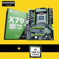 Zniżka płyta główna HUANAN ZHI X79 płyta główna z M.2 gniazdo SATA3.0 płyty głównej z CPU Xeon E5 1650 V2 3.5GHz SR1AQ x79 motherboard motherboard cpuxeon e5 -