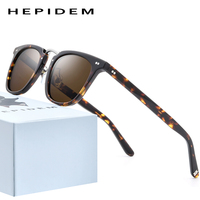 HEPIDEM Acetate Polarized Sunglasses 2020 New Women High Quality Fashion Sunglass Square UV400 Sun Glasses for Men 9126