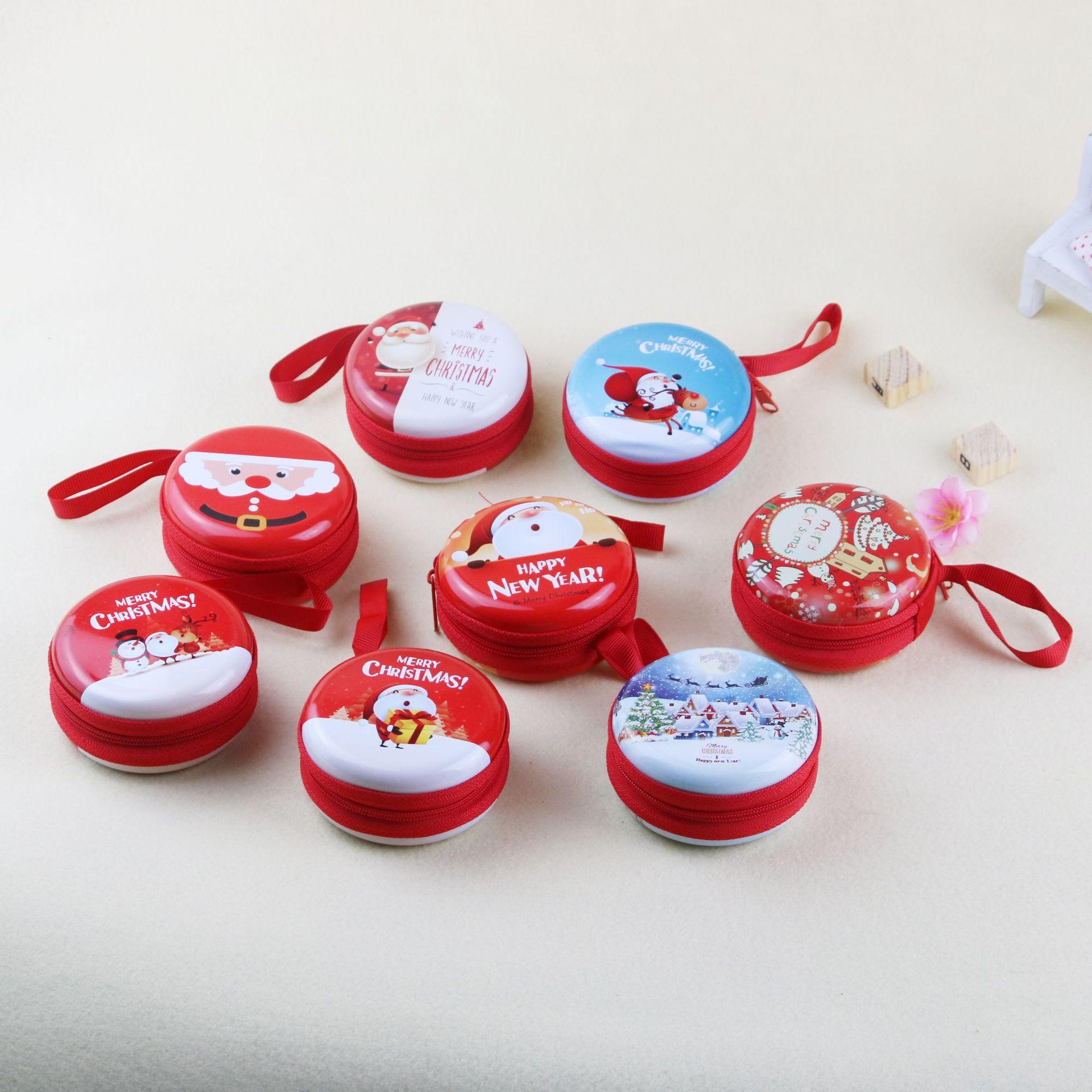 Портмоне с рождественскими мотивами подарок маленький мультфильм жестяная монета кошелек настраиваемый детский подарок Подвеска Игрушка