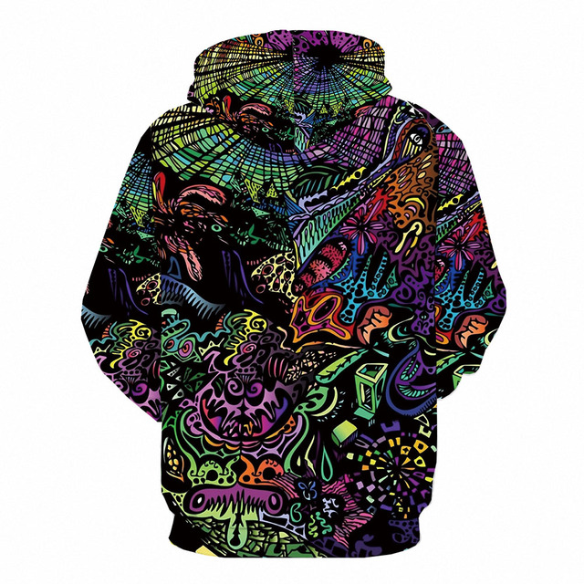 3d Hoodies Psychedelic Sweatshirts men Element Hooded Casual Abstract Hoody Anime Graffiti Hoodie Print Funny 3d Printed 2