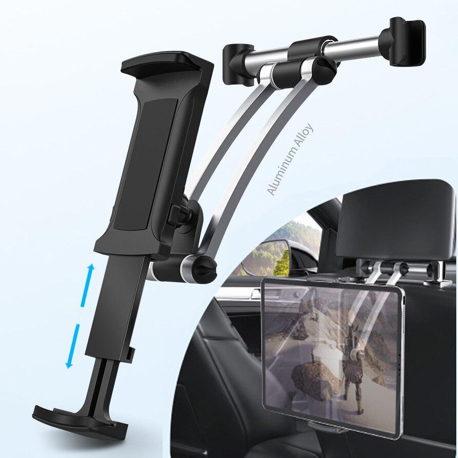 Aluminum car Back Seat Headrest phone Tablet Car Holder 5-13 Inch Tablet Phone mount car For iPad Air Pro 12.9 Iphone X 8plus