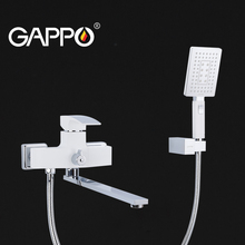 GAPPO White Brass Bathtub Faucet With Handheld Shower bathroom faucet mixer bath shower faucet  bathroom tub shower faucet gappo bathtub faucet white tub faucet rainfall bath tub taps shower mixer tap wall mount shower faucet set robinet baignoire