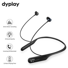 Active Noise Cancelling Headphones Wireless Neckband Headsets Bluetooth in Ear Lightweight Waterproof Earbuds Online Conference