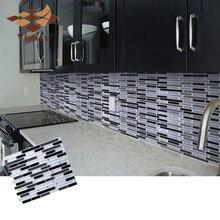 Mosaico auto adesivo telha backsplash adesivo de parede vinil banheiro cozinha decoração para casa diy w4